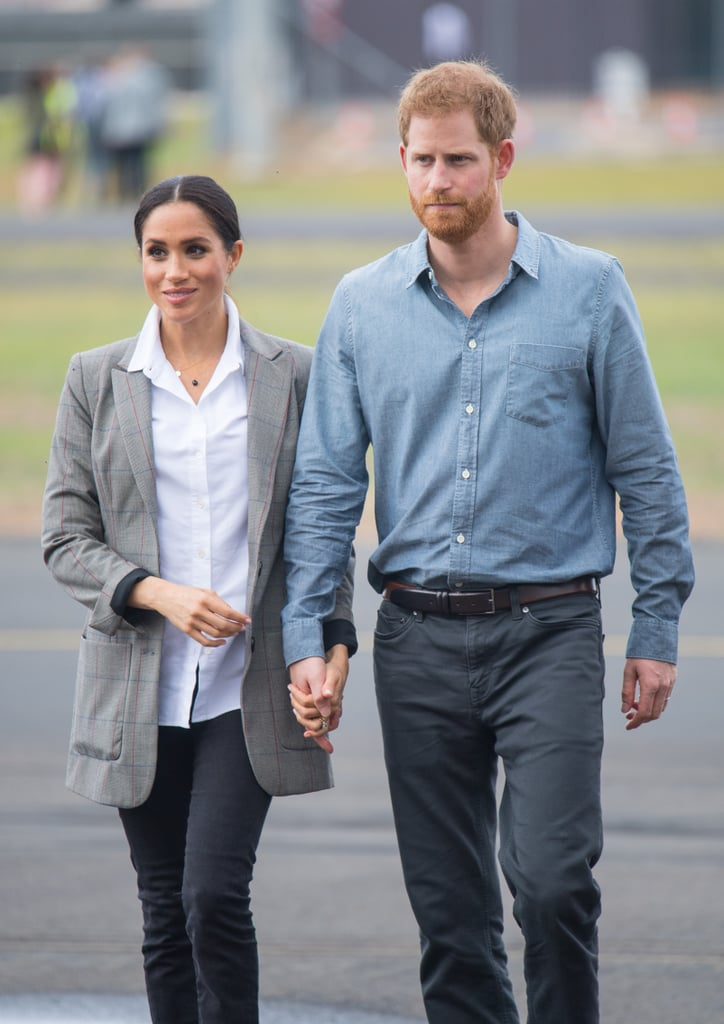 A classic white button-down is Meghan's signature, so much so that she created her own version with designer friend Misha Nonoo as part of a capsule collection with Smart Works.