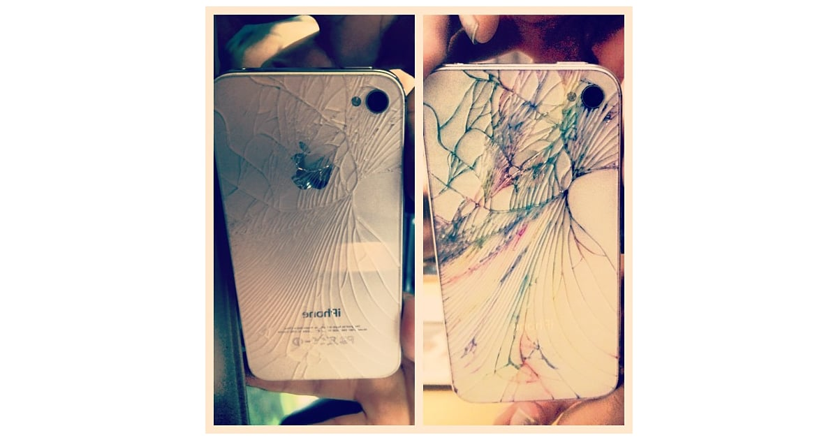 Instagram User Nicolecolour Demonstrates The Before And After Of A Cracked IPhone