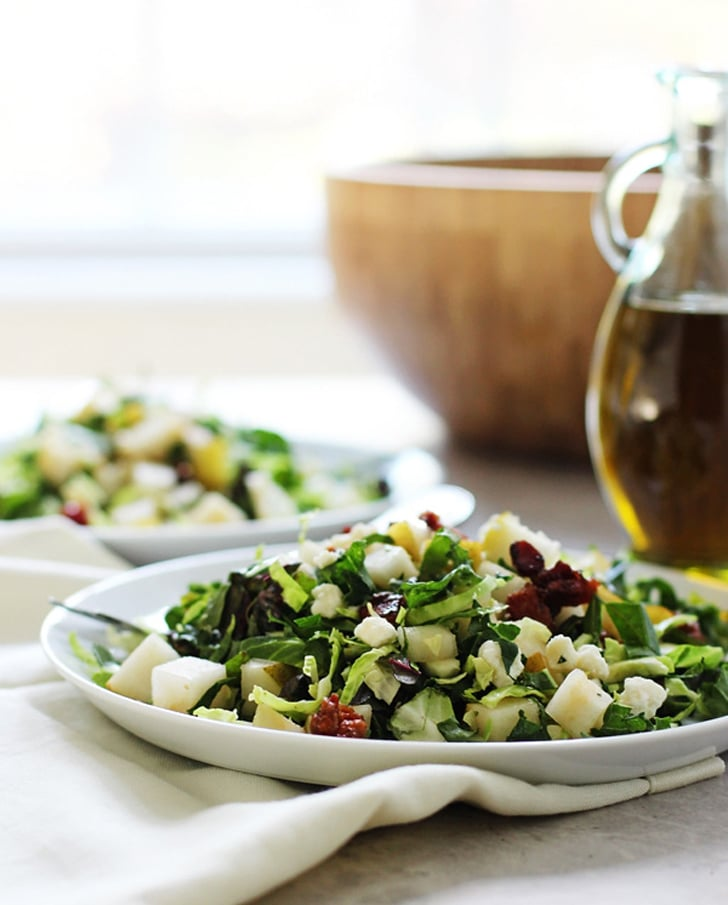 Chopped Brussels Sprouts, Kale, and Chard Salad