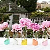 Pastel-Dipped Milk Bottle Vases
