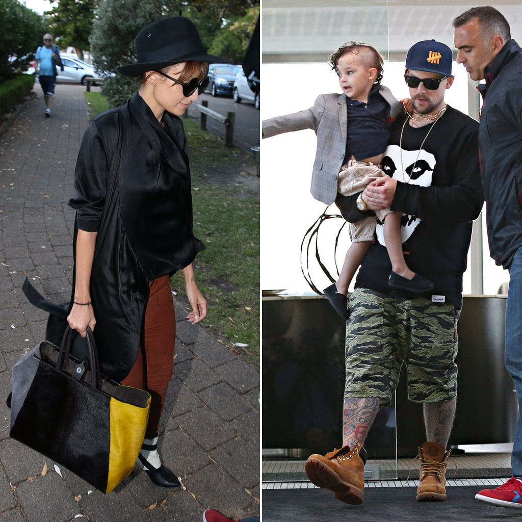 Nicole Richie and Joel Madden at Catalina in Sydney