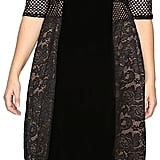 Kiyonna Mixed Lace Cocktail Dress