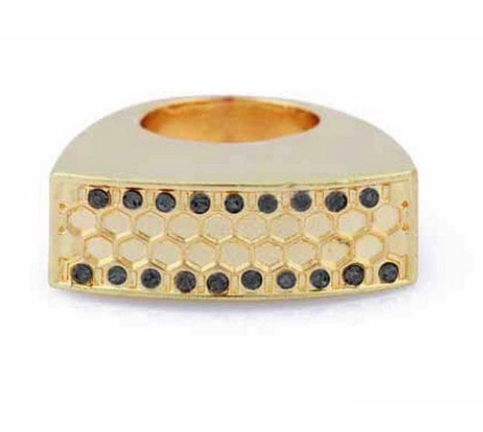 Honey Hexagon Border Ring in 14kt Yellow Gold ($46)
