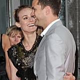 Diane Kruger laughed with Joshua Jackson at the National Movie Awards in London in May 2010.
