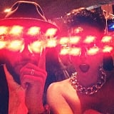 Swizz Beatz and Alicia Keys celebrated New Year's Eve with crazy light-up glasses. Source: Instagram user therealswizzz
