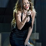 Rihanna performed at the Grammys.
