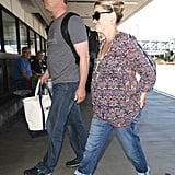 Reese Witherspoon had a helping hand with her as she arrived at the airport.