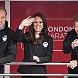 The British Royals at London Marathon April 2017