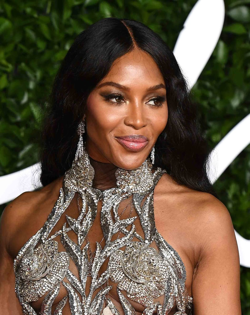 Naomi Campbell's Luminous Eyes and Lips