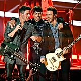 The Jonas Brothers on Stage at the Billboard Music Awards For Their Performance