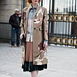 Let Your Hemline Peek Out From Under a Statement Coat