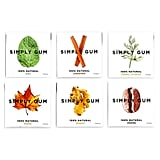 Simply Gum Natural, Vegan Chewing Gum, Assorted (Mint, Cinnamon, Ginger, Fennel, Maple, Coffee)