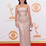 Veep star Julia Louis-Dreyfus walked the Emmys red carpet.