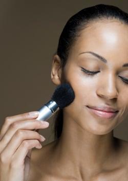 Makeup Artist Tricks For Layering Cream and Powder Blush for Spring Summer 2009 Catwalk Runway Makeup Trend
