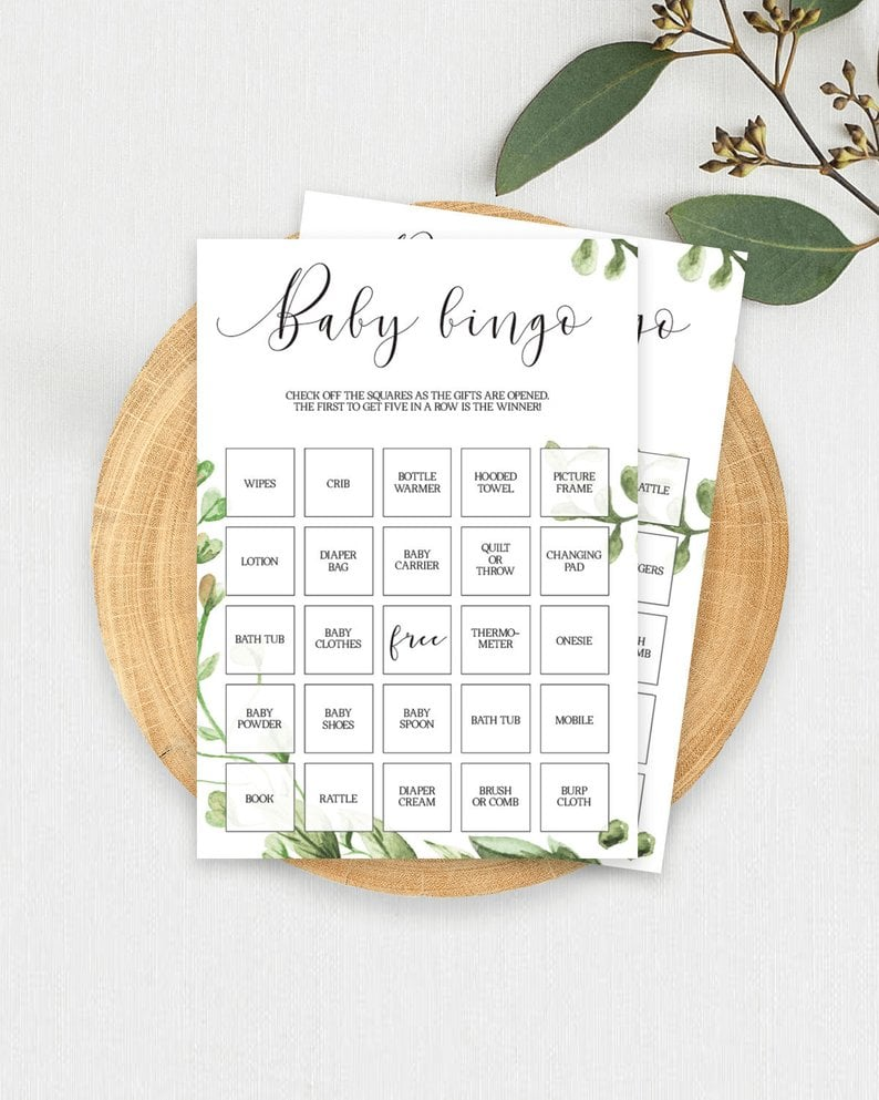picture regarding Baby Shower Bingo Cards Printable identified as Printable Boy or girl Shower Bingo Playing cards Printable Boy or girl Shower