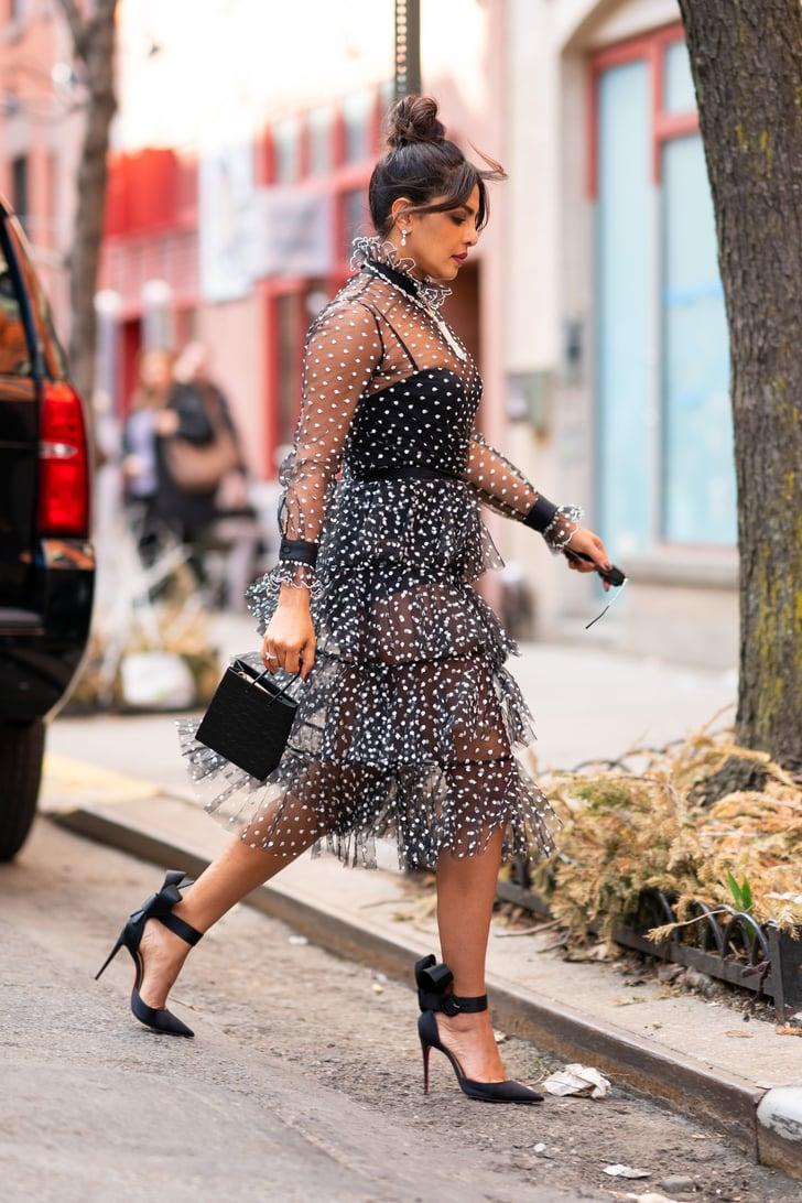 Priyanka Chopras Sheer Polka-Dot Dress  Popsugar Fashion Photo 15-5981