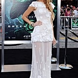 Blake Lively Wearing a Sheer, Lacy Gown