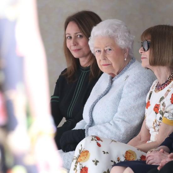 Queen Elizabeth II at Fashion Week 2018