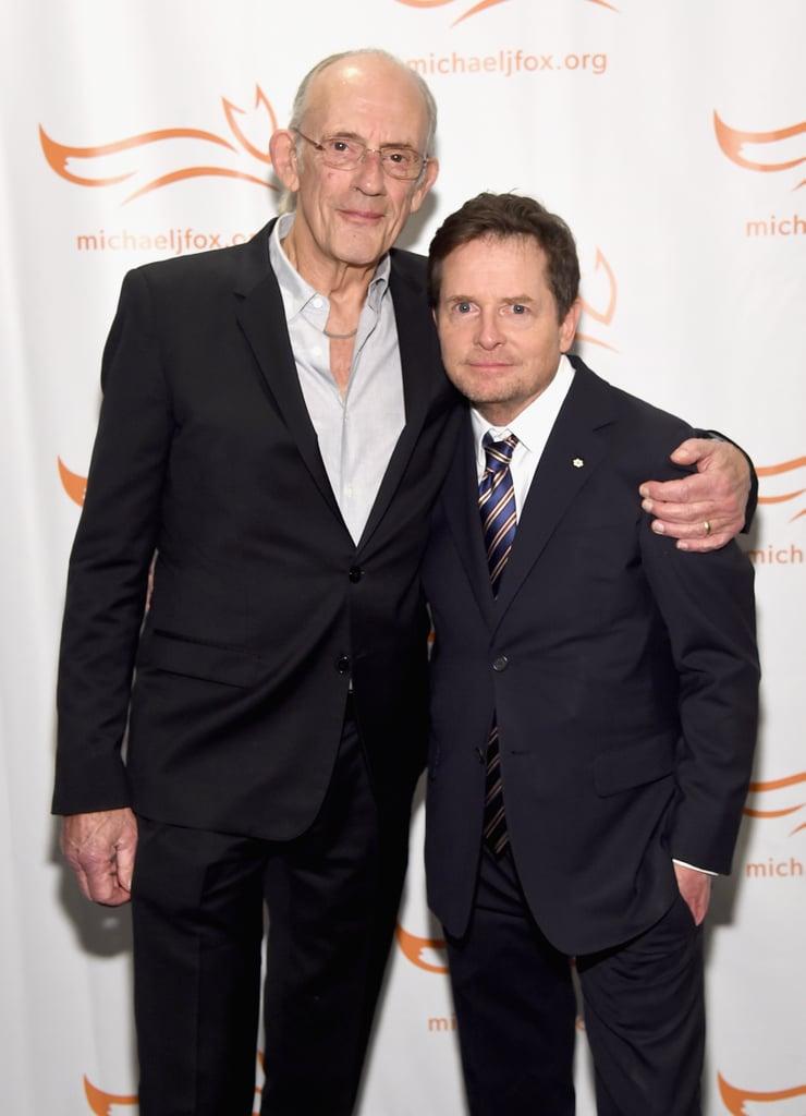 Michael J Fox And Christopher Lloyd Reunion Photo 2018 Popsugar