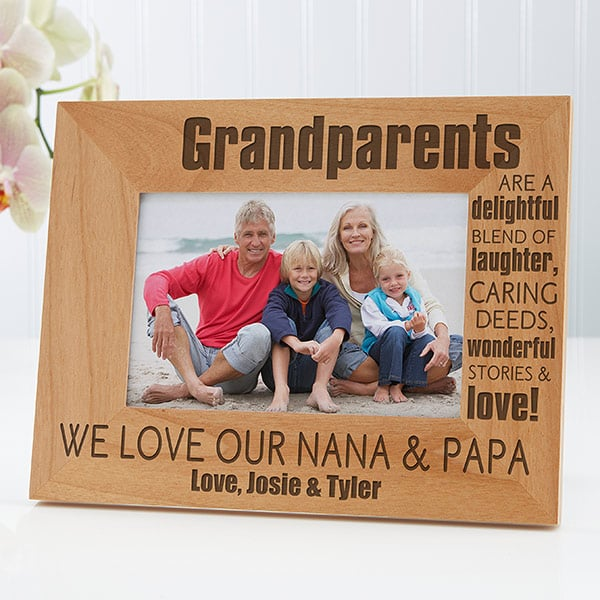 """For the Grandparents Who Appreciate Family Photos: """"The Best Gift"""" Personalized Picture Frame"""