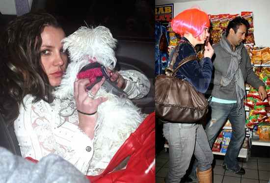 Britney Spears in Pink Wig With Adnan Ghalib Back in LA