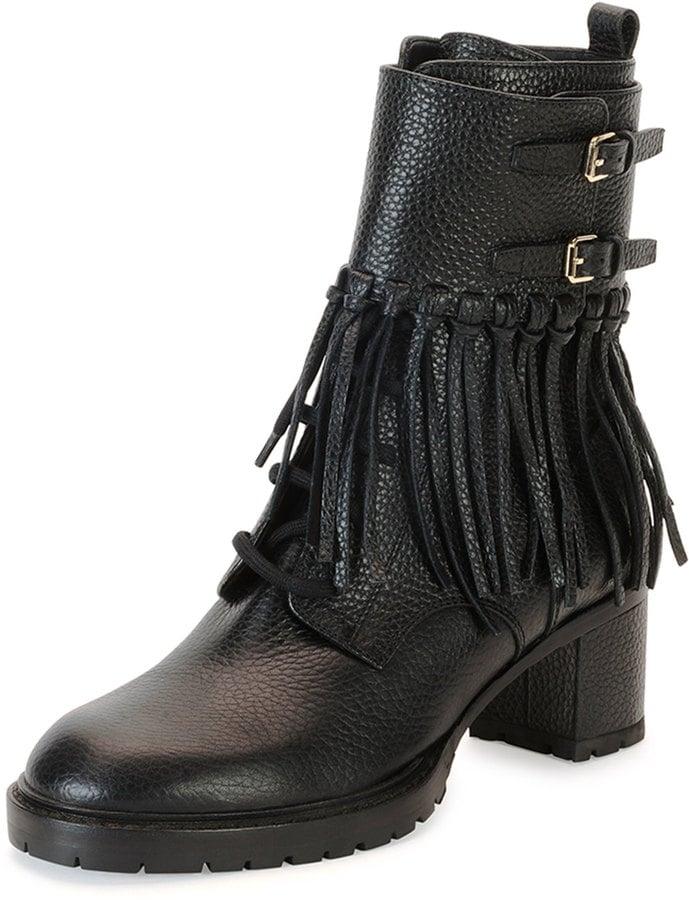 Valentino Tassel Leather Combat Boot ($1,975)