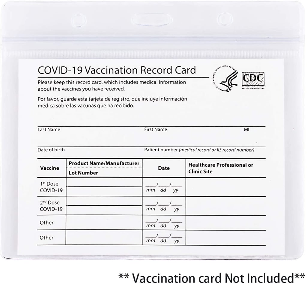 Mijish Clear Vaccination Card Protector
