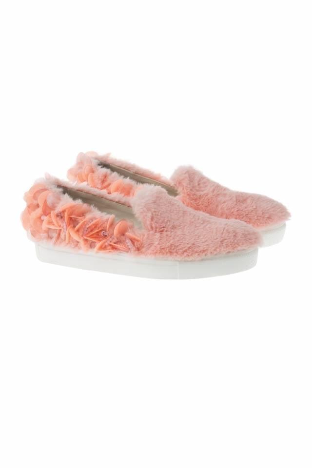 Anouki Furlana Embellished Faux Fur Slip-On Sneakers