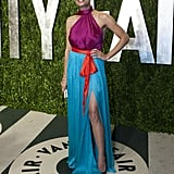 Rosario Dawson had a thigh-high slit on her Ferragamo dress.