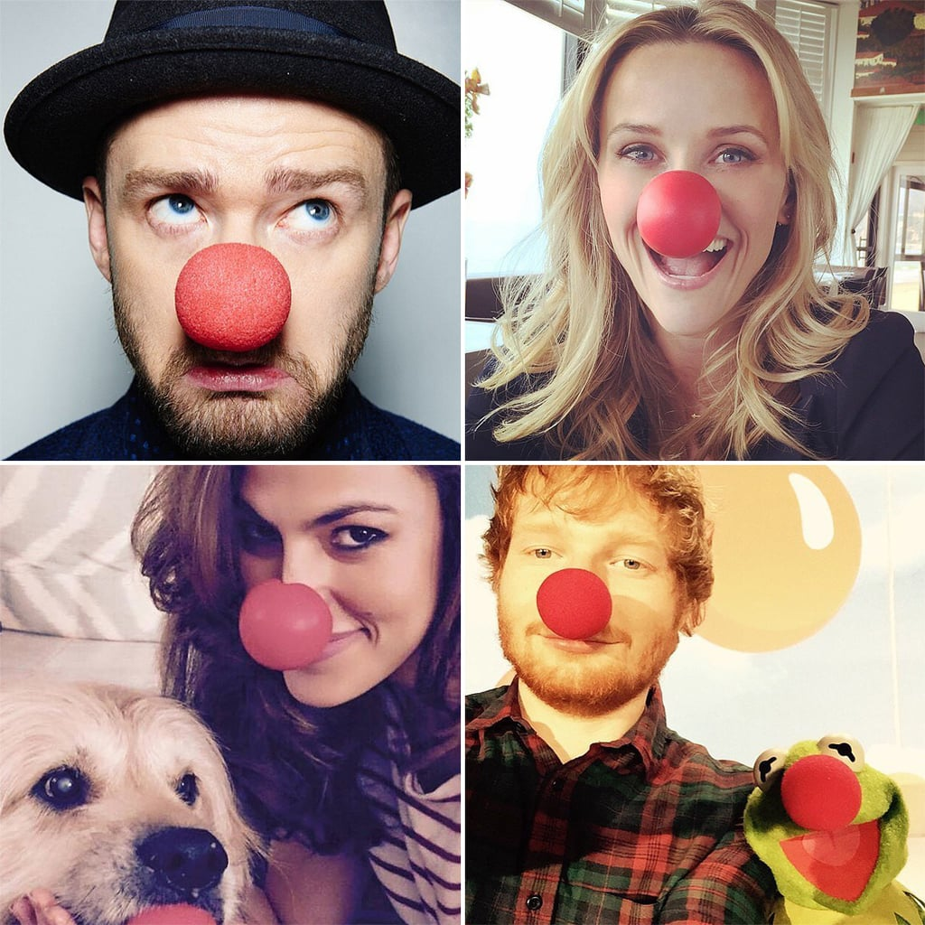 Celebrity Instagram Pictures From Red Nose Day