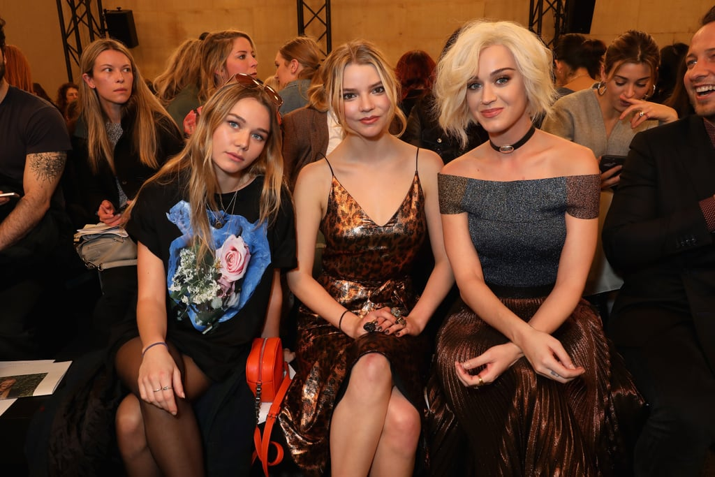 Kooshyar Taylor, Anya Taylor Joy and Katy Perry at Christopher Kane