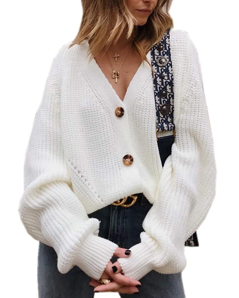 Asskdan Button-Down Cardigan Sweater