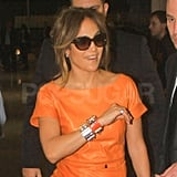 Jennifer Lopez was happy to see her South American fans.