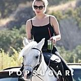Lady Gaga Riding Her Horse in Malibu May 2016