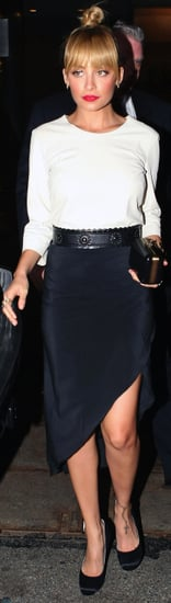 Nicole Richie Black Asymmetrical Skirt