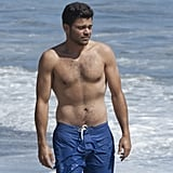 Slimmed-down and shirtless Jerry Ferrara.