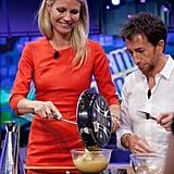 Gwyneth Paltrow filmed a cooking segment.