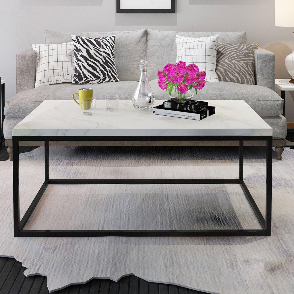 Gymax Modern Rectangular Coffee Table