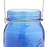 Blue Mason Jar Citronella Candle ($17)