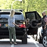 Gwyneth Paltrow with family in the UK.