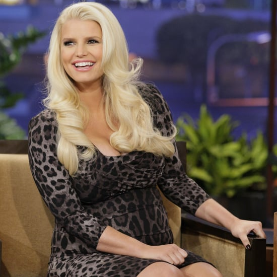 Pregnant Jessica Simpson on The Tonight Show