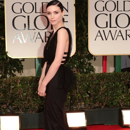 Rooney Mara Black Nina Ricci Dress Pictures at 2012 Golden Globes