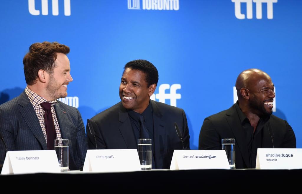 Chris Pratt and Denzel Washington at TIFF 2016