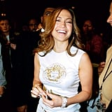 Wearing Versace at a Puff Daddy concert in London in 2000.