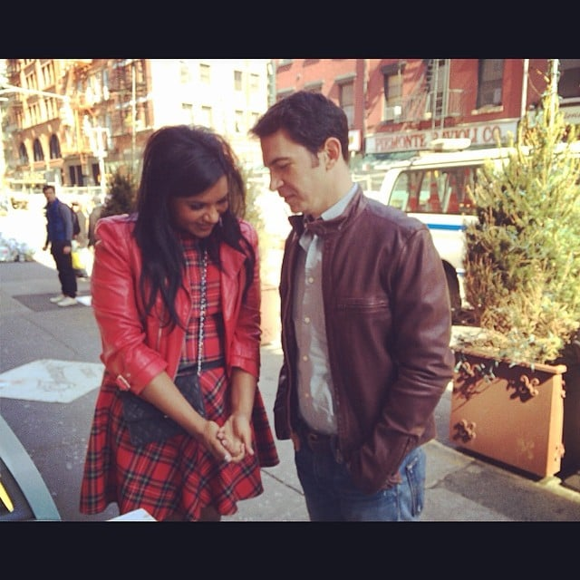 Mindy Kaling and Chris Messina got close on the set of The Mindy Project. Source: Instagram user mindykaling
