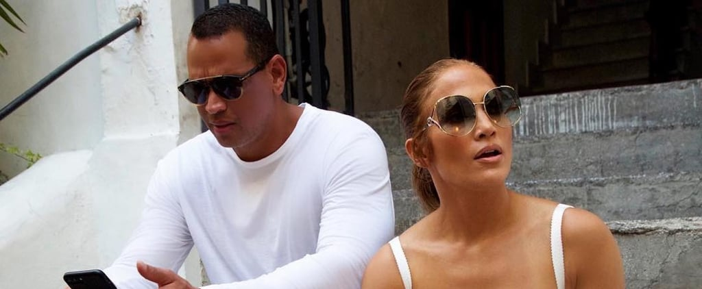 Jennifer Lopez's White Lace Dress in Capri 2018