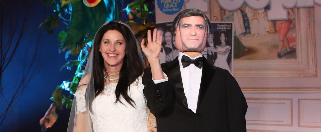 You Have to See Ellen DeGeneres's Amal Alamuddin Halloween Costume