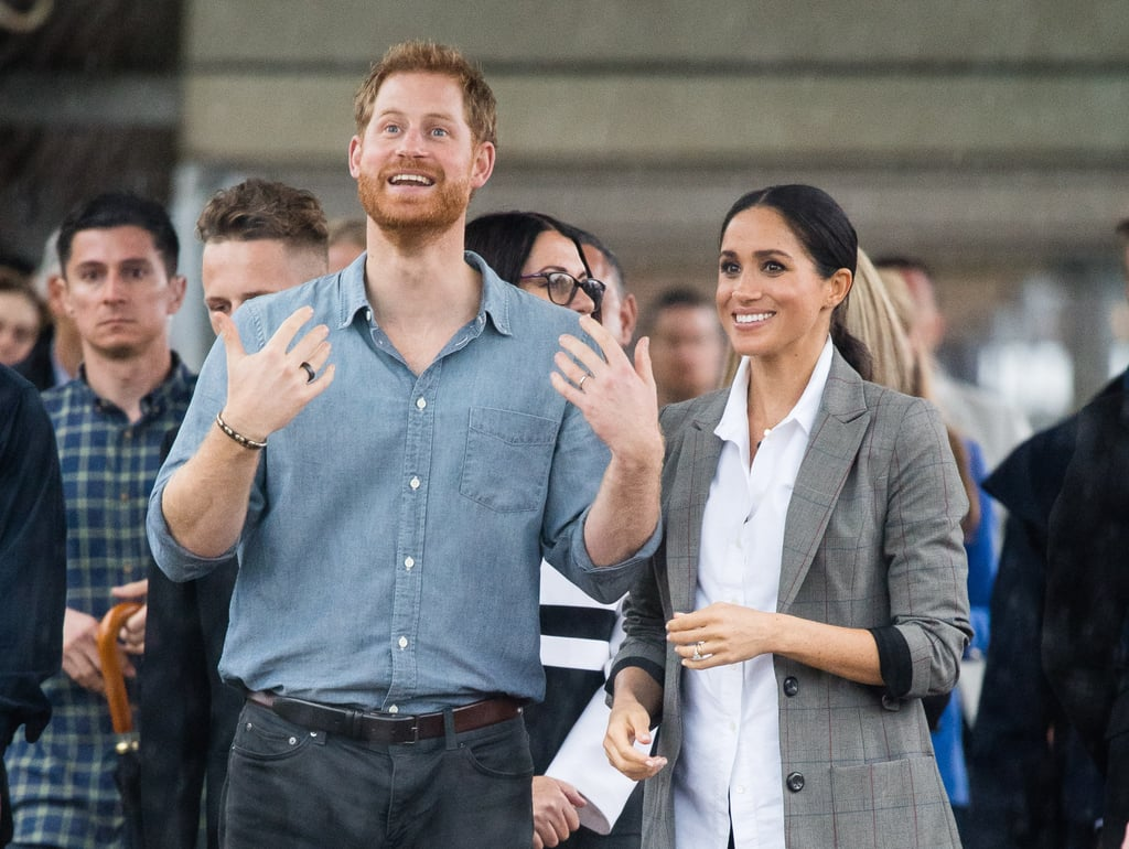 Hours Ago Royals Harry and Meghan go barefoot