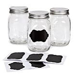 Clear Mason Jars with Chalkboard Lables