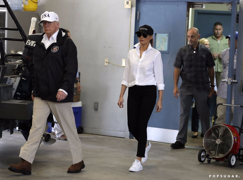 Melania Trump in Adidas Stan Smith Sneakers
